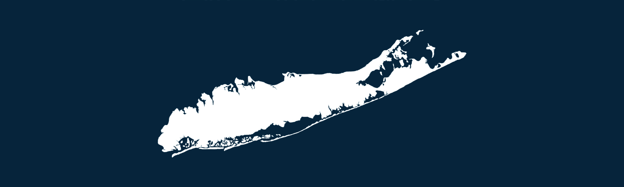 Blue and white image of Long Island