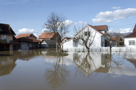Home during flood